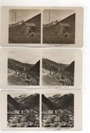 AK-2485/ 3 X Hohe Tauern Heligenblut, Schutzhaus Am Kals NPG Stereofoto Ca. 1905 - Photos Stéréoscopiques
