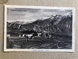 SALUTI DA LEVICO BAGNI VEDUTA GENERALE E MONTI 1930 - Trento