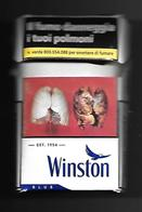 Tabacco Pacchetto Di Sigarette Italia - Winston Blue 2018 Da 20 Pezzi N.7 - Tobacco-Tabac-Tabak-Tabaco - Empty Cigar Cabinet