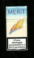 Tabacco Pacchetto Di Sigarette Italia - Merit Estate Da 10 Pezzi - Tobacco-Tabac-Tabak-Tabaco - Empty Cigar Cabinet