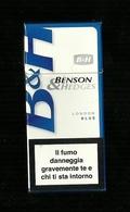 Tabacco Pacchetto Di Sigarette Italia - B & H London Blue Da 10 Pezzi - Tobacco-Tabac-Tabak-Tabaco - Scatola Di Sigari (vuote)