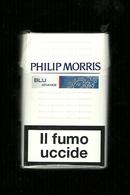 Tabacco Pacchetto Di Sigarette Italia - Philip Morris Blu Da 20 Pezzi Bis - Tobacco-Tabac-Tabak-Tabaco - Scatola Di Sigari (vuote)