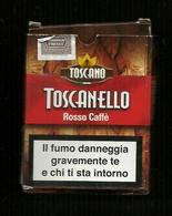 Tabacco Pacchetto Di Sigari Italia - Toscanello Rosso Caffè  - Tobacco-Tabac-Tabak-Tabaco - Scatola Di Sigari (vuote)