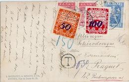 GRECE Carte Taxée En Hongrie Bel Affranchissement - Greece