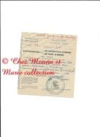 TULEAR MADAGASCAR 1960 - AUTORISATION PORT DETENTION D ARMES LHERMENAULT MAURICE CHEF SECTEUR A MIANDRIVAZO 12 X 13.5 CM - Militaria
