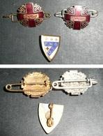 Lot 3 Broches Badges Métal émaillé, Don Du, R. Louis Paris, Fédé Nationale Donneurs De Sang Bénévoles, Croix Rouge - Organisations