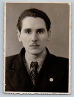 1950s HANDSOME MAN Portrait Soviet Fashion Gay Int Russian Photo - Photographs