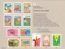 UNO NEW YORK, Erinnerungskarte EK 32, Immunize Every Child!, 1987 - New York -  VN Hauptquartier