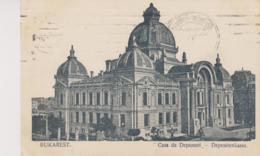 Bukarest Depositenkasse  Um 1910 Mit Feldpost Stempel - Rumänien