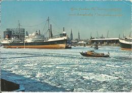 HAMBURG IM WINTER - Hafen.  (scan Verso) - Deutschland