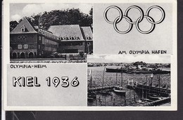 Kiel Olympia 1936 Sonderstempel - Olympische Spelen
