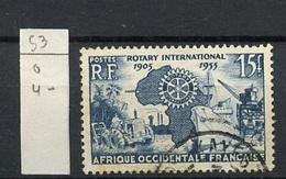 AOF - Französisch Westafrika - French West Africa 1955 Y&T N°53 - Michel N°73 (o) - 15f Rotary International - A.O.F. (1934-1959)