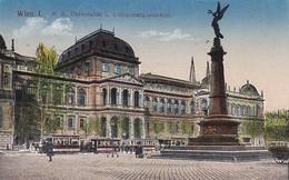 AK Wien - K.k. Universität U. Liebenbergdenkmal - Feldpost 1918 (42835) - Ringstrasse