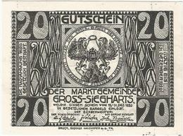 Austria (NOTGELD) 20 Heller Gross-Siegharts 31-12-1920 Kon 297 A.2 UNC - Austria
