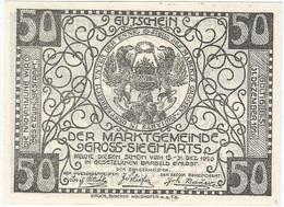 Austria (NOTGELD) 50 Heller Gross-Siegharts 31-12-1920 Kon 297 A.3 UNC - Austria
