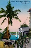 BERMUDA , TARJETA POSTAL CIRCULADA , WISTOWE , FORMER HOME OF AMERICAN CONSUL - Bermudas