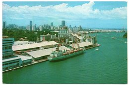 SINGAPORE - THE AERIAL VIEW OF SINGAPORE HARBOUR / SHIP / THEMATIC STAMPS-POTTER WASP - Singapore