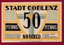 Allemagne 1 Notgeld 50 Pfenning Stadt Coblenz Dans L 'état   Lot N °4403 - Verzamelingen