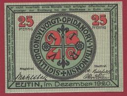 Allemagne 1 Notgeld 25 Pfenning Stadt Eutin Dans L 'état   Lot N °4404 - Collections