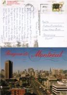 CAS18604 Canada 1993 Postcard Montreal Franking 86c W/ Slogan Addressed Egypt - 1952-.... Elizabeth II
