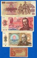 Tchécoslovaque  8  Billets - Czechoslovakia