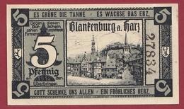 Allemagne 1 Notgeld 5 Pfenning Stadt Blankenburg Dans L 'état Lot N °4425 - Collections