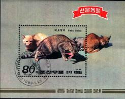 6385b) Corea Fauna GATTI-Gatos Hojita Del Año 1989-USATO - Corea Del Sud