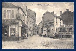 Virton. Grand'Rue. Au Bon Marché Delhaize Frères. Café De La Place Verte. Café-Restaurant.Dépôt Vélos. Censure 1916 - Virton