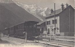 74 LES PRAZ GARE  TRAIN PLM SNCF A VOIX METRIQUE VALLEE DE CHAMONIX MONT BLANC JULLIEN FRERES JJ 6650 - Chamonix-Mont-Blanc