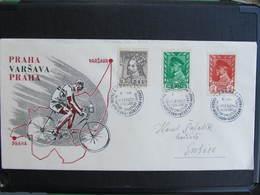 BRIEF Fahrrad Bicycle Sport Praha - Varsovia 1948 // D*39559 - Briefe U. Dokumente
