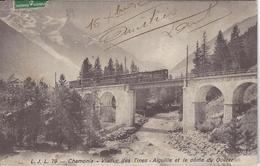 74 LES TINES VIADUC FERROVAIRE TRAIN PLM SNCF A VOIX METRIQUE LE FAYET VALLEE DE CHAMONIX MONT BLANC EDITEUR LJL 79 - Chamonix-Mont-Blanc