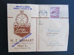 BRIEF Uhren Clock 1947 Linhart Praha - Smirice  // D*39560 - Briefe U. Dokumente