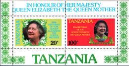 6390b) Tanzania 85 Cumpleaños Reina Madre Año 1985 -BF-MNH** - Tanzania (1964-...)