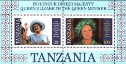 6391b) Tanzania 85 Cumpleaños Reina Madre Año 1985 -BF-MNH** - Tanzania (1964-...)
