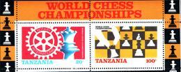 6392b) Tanzania 1986 Mi 313-14 BL 54 ** Chess Schach Echecs Scacchi Szachy Sport -BF-MNH** - Tanzania (1964-...)