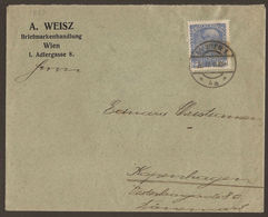 AUSTRIA. 1918. CENSORED COVER TO DENMARK. BRIEFMARKENHANDLUNGEN - 1850-1918 Empire