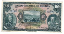 Bolivia 100  Bolivianos X2 , 1928, P-125 . XF. - Bolivië