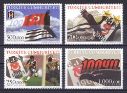 Turkey - 2003 - ( Team Emblem - BJK Soccer Team, Cent. ) - MNH (**) - 1921-... República