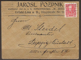 AUSTRIA. COMMERCIAL COVER. PAINTING. 12h CANCELLED LINZ – COURT PAINT MAKERS. SEAL ON REVERSE. - 1850-1918 Empire