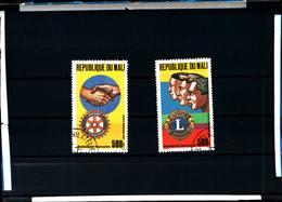 6393b) Mali 1987 1102-03 C538-39 Service Organizations Lions Club Rotary Intl. -USATI - Mali (1959-...)