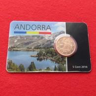 Andorra Blister 5 Cents 2014 Unc - Andorra