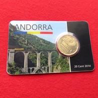Andorra Blister 20 Cents 2014 Unc - Andorra