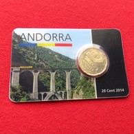 Andorra Blister 20 Cents 2014 Unc - Andorre