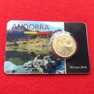 Andorra Blister 50 Cents 2014 Unc - Andorra