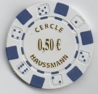 Jeton De Casino : Cercle Haussmann 0,50€ - Casino
