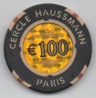Jeton De Casino : Cercle Haussmann €100 - Casino