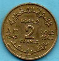 R13/ MAROC / MOROCCO  2 FRANCS 1945 / 1364 - Marokko