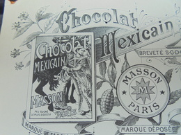 PARIS,RUE DE RIVOLI Et RUE DU LOUVRE, 1899 - AUGUSTE LELEU, CHOCOLAT MASSON, CHOCOLAT MEXICAIN - DECO - Frankrijk