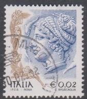 Italy Republic S 2585 2002 Women In Art  0,02 Euro, Used - 2001-10: Afgestempeld