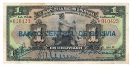 Bolivia 1 Boliviano 1911, (1929) P-112. XF. - Bolivia